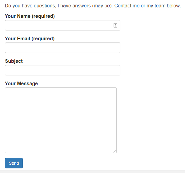 contact form 7 in action