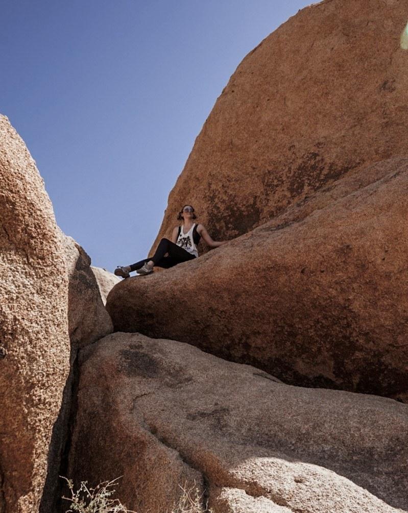 Bouldering at Joshua Tree National Park.