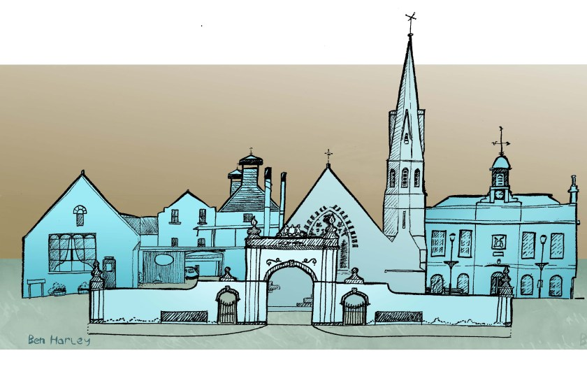 Banner Illustration for a Leopard Magazine article on Old Meldrum.