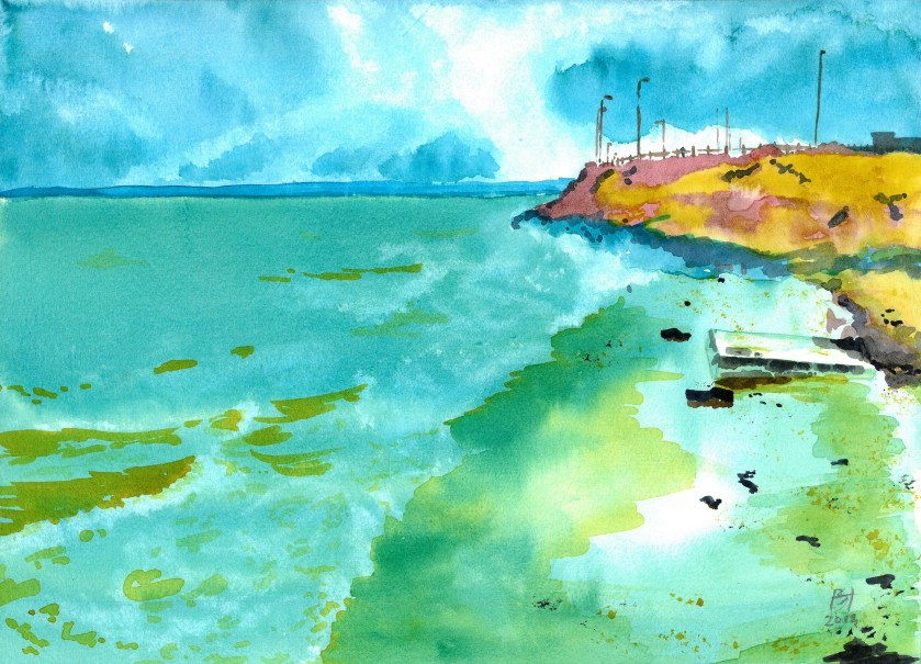 'Portobello Cove' - approaching Portobello beach from the north.