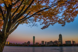 Boston skyline from the Charles River