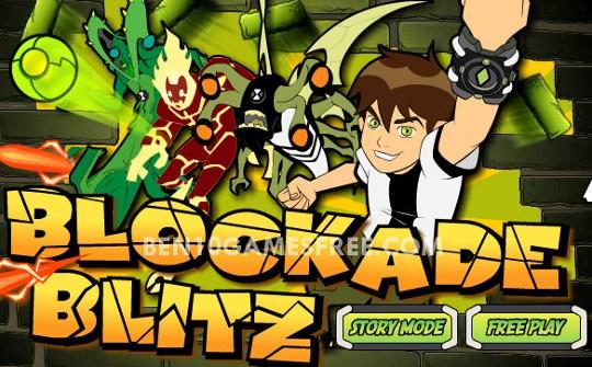 Ben 10 Blockade Blitz Game