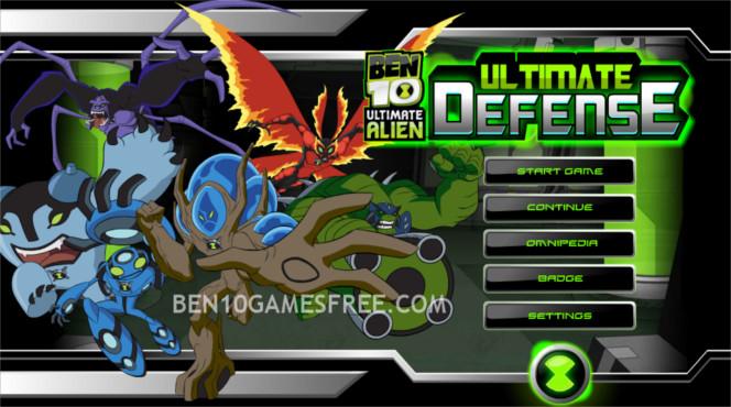 Ben 10 Ultimate Alien Defence Online Games