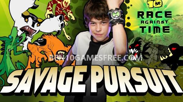 Ben 10 Savage Pursuit Game Download, Play online