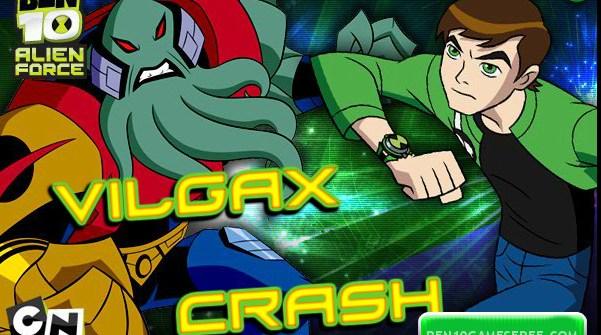 Ben 10 Vilgax Crash Game