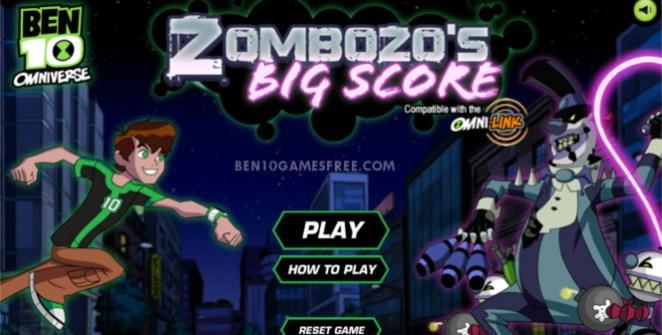 Ben 10 Zombozo Big Score Game