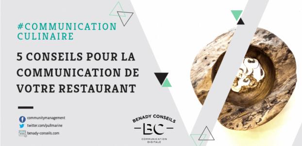 5 conseils pour la communication de votre restaurant