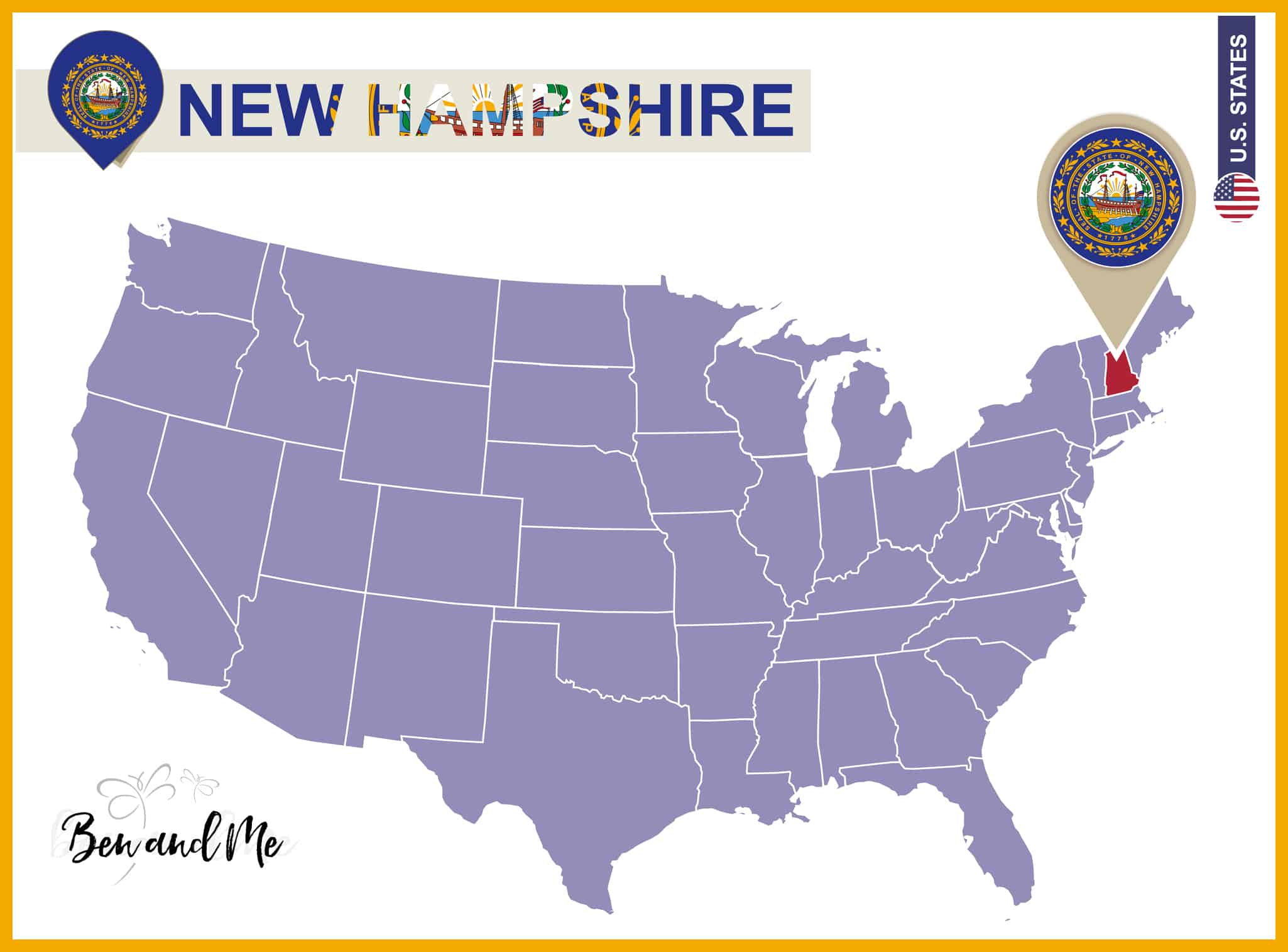 Notebooking Across The Usa New Hampshire