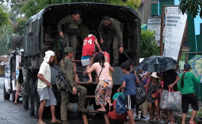 Philippines Evacuates Thousands Ahead Of Typhoon Kammuri