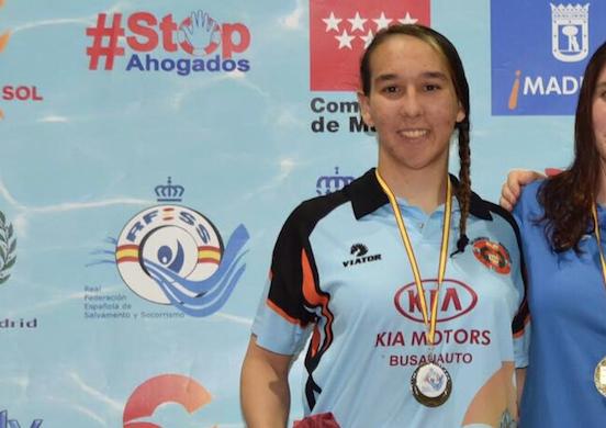 Photo of Carolina Ganado tercera socorrista de Castilla y León reconocida como deportista de alto nivel