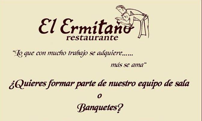 Photo of El restaurante El Ermitaño busca gente para su equipo de Sala