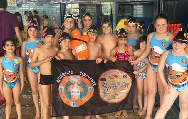 Photo of El equipo benjamín masculino del Salvamento Benavente campeón de Castilla y León