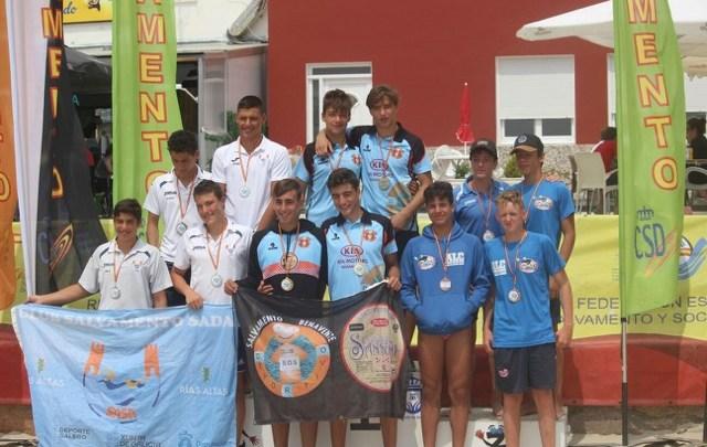 Photo of El equipo masculino del Salvamento Benavente Campeón de España en la prueba reina en playa