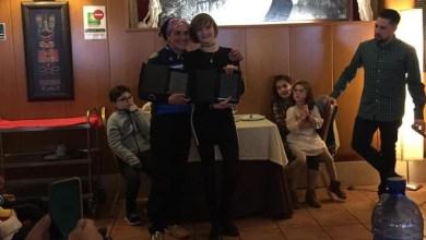Photo of María José García y Nasta Salvador homenajeadas por el Club Benavente Natación