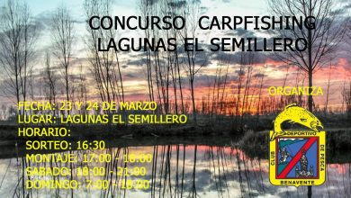 Photo of Concurso de Carpfishing en las Laguas El Semillero del CD de Pesca de Benavente