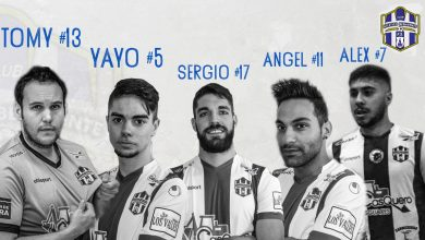 Photo of Con Yayo, Tomy, Sergio Hernández, Ángel y Álex plantilla cerrada