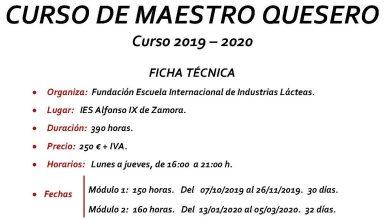 Photo of Se abre el plazo de inscripción para el Curso de Maestro Quesero