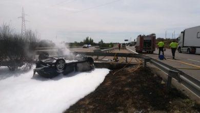 Photo of Se incendia un vehículo en la A-6 provocando el corte de un carril