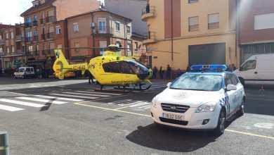 Photo of Atendida por el helicóptero una mujer atropellada en Benavente