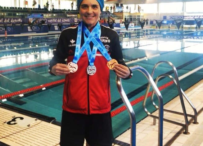 Photo of Pepa García triple medallista en el Nacional de Fondo Máster