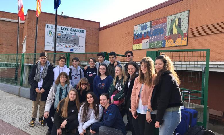 Photo of Alumnos americanos de intercambio con el IES Los Sauces pasan unos días en Benavente