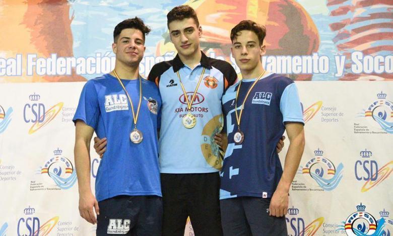 Photo of Javier Huerga campeón de España en 100 metros socorrista junior