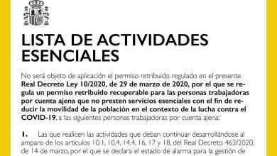 Photo of Listado de actividades esenciales de quienes podrán seguir trabajando