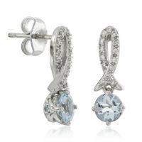 Aquamarine & Diamond Dangle Earrings 14K | Ben Bridge Jeweler
