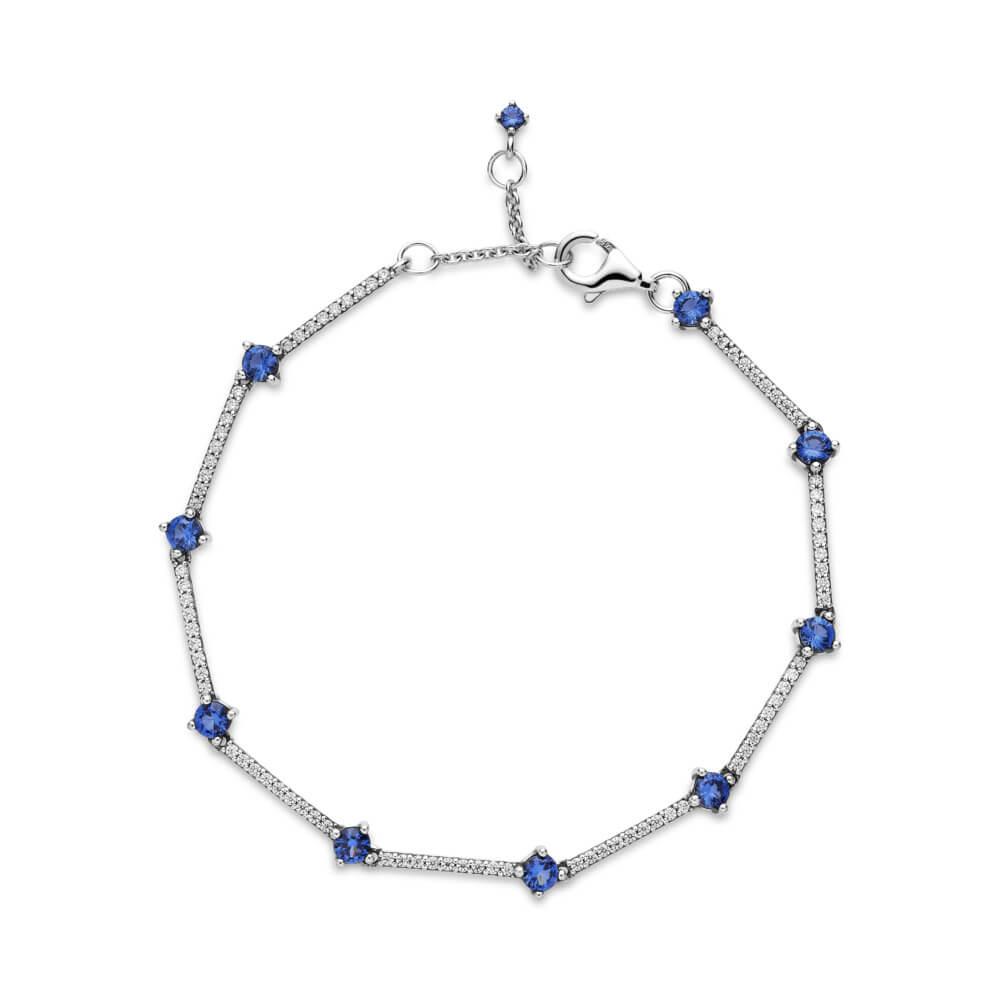 Pandora Sparkling Pavé Bars Blue Crystal & CZ Bracelet