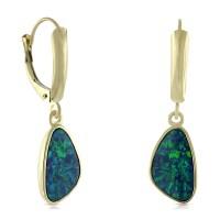 Opal Doublet Dangle Earrings 14K   Ben Bridge Jeweler