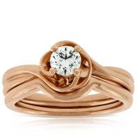 Rose Gold Diamond Wedding Set 14K   Ben Bridge Jeweler