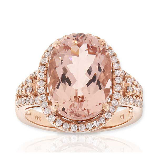 Rose Gold Morganite Amp Diamond Ring 14K Ben Bridge Jeweler