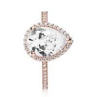 PANDORA Rose Radiant Teardrop CZ Ring - 186251CZ-54   Ben ...