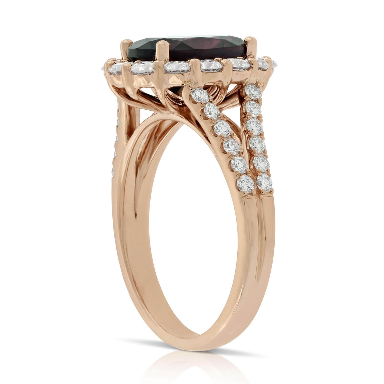 Rose Gold Rhodolite Garnet Amp Diamond Ring 14K Ben Bridge