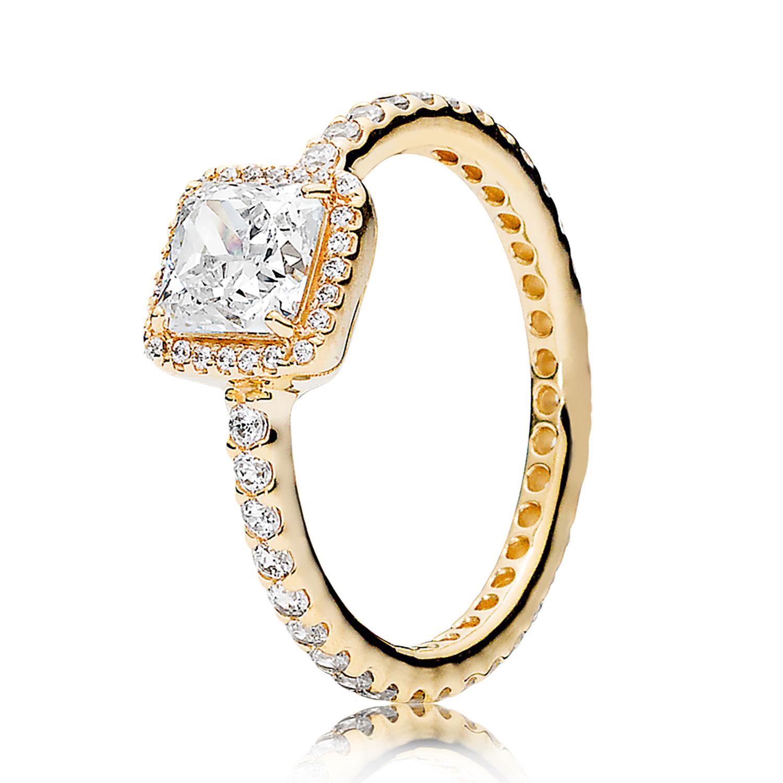 PANDORA Timeless Elegance CZ Ring 14K
