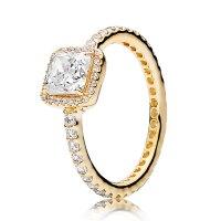 PANDORA Timeless Elegance CZ Ring 14K - 150188CZ   Ben ...