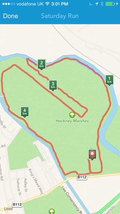 Hackney marshes 5k course image