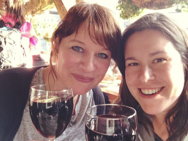 Image of Natasja and Christine in London
