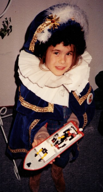 me dressed up as a child