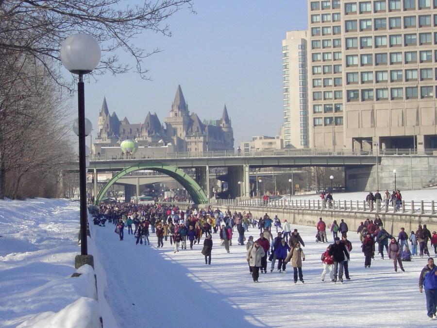 skating in Ottawa vs cycling in London image