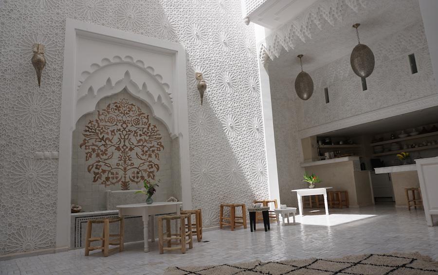 Marrakech riad star courtyard