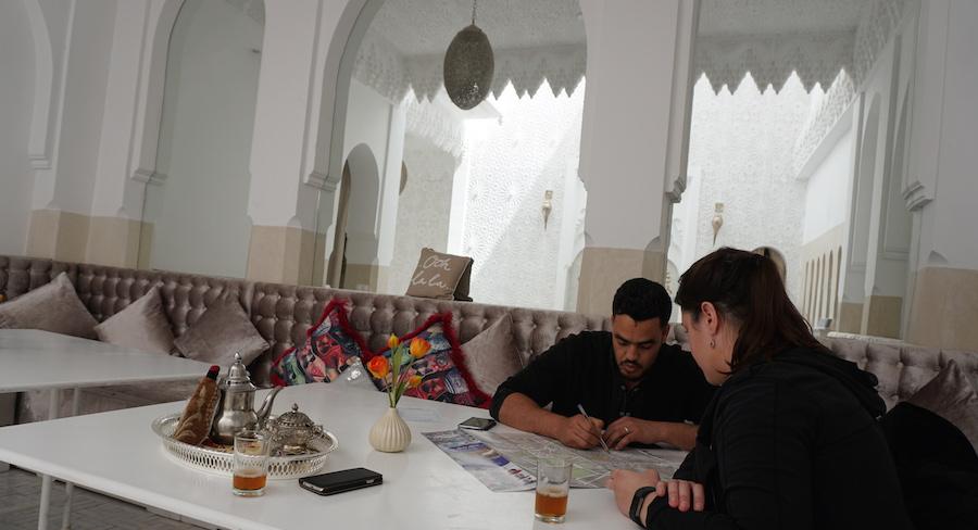 english speaking riad star staff map marrakech
