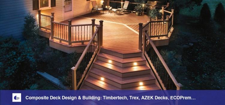Composite deck at night