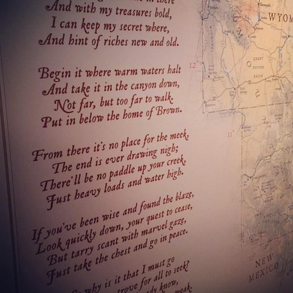 Forrest Fenn Poem Treasure Map - Year of Clean Water
