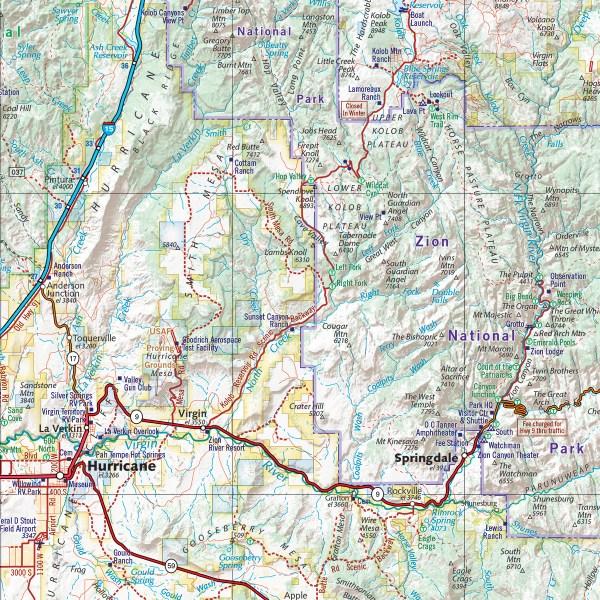 Utah Road Recreation Atlas Benchmark Maps