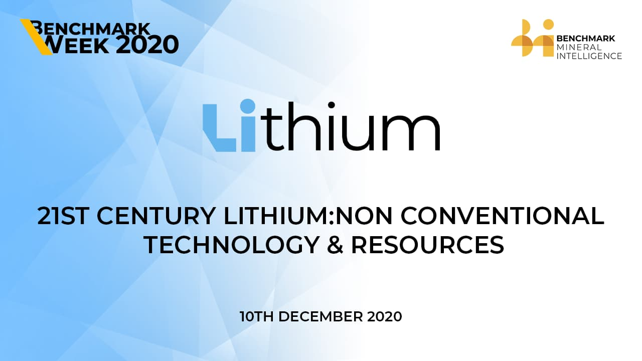 21st Century Lithium: Non conventional technology & resources
