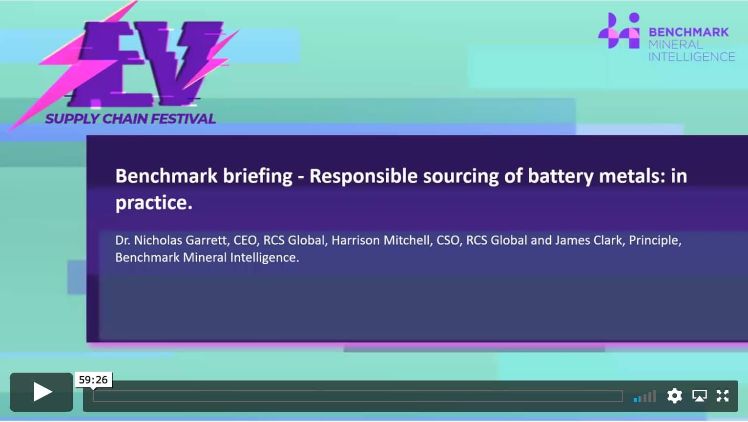 Responsible sourcing of battery metals: in practice