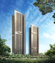 2 commonwealth towers of 43 storey soaring the sky