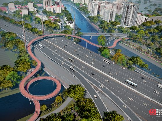This bridge could allow joggers and cyclists to cross the PIE conveniently