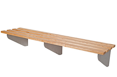 Classic Aero Wall Mounted Changing Room Bench Benchura